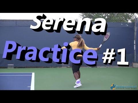 Serena Williams Practice Session #1 (Cincinnati 2014)
