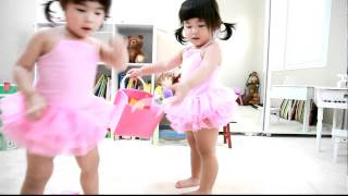 """Twin Babies Talking To Each Other and Cleaning Up """"Two year old"""", Part II"""