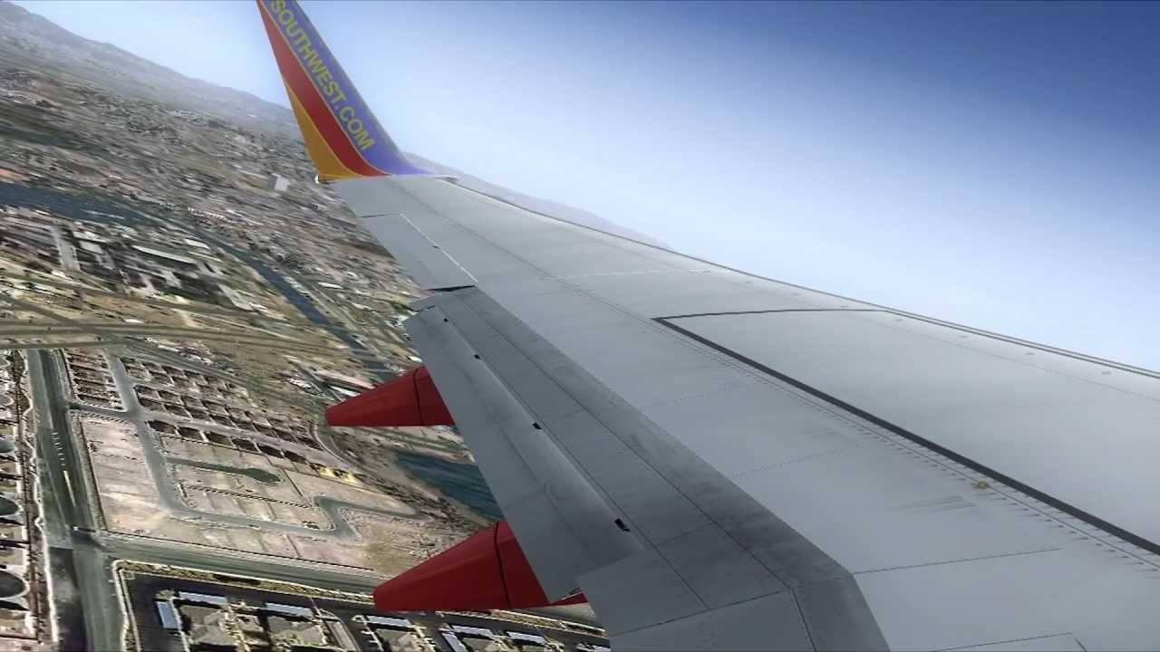 Fsx Wallpaper Hd Fsx Southwest Airlines 737 Departure From Santa Ana
