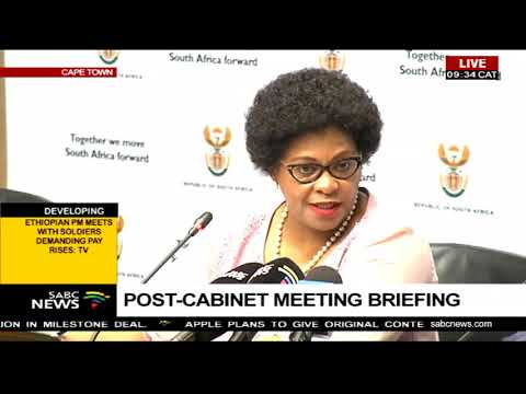 Post-cabinet meeting briefing