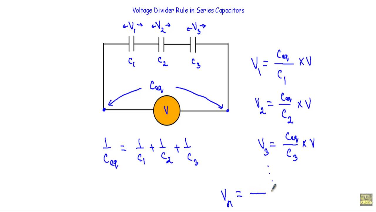 Voltage Divider Rule in Series Capacitors - YouTube