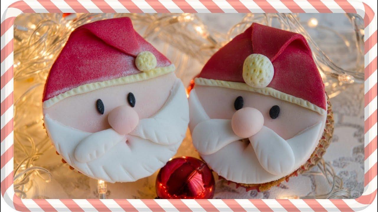 C mo hacer cupcakes navide os de pap noel o santa claus - Hacer videos navidenos ...
