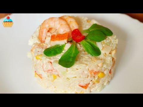 Ну, оОчень вкусный - Крабовый Салат с рисом без регистрации и смс