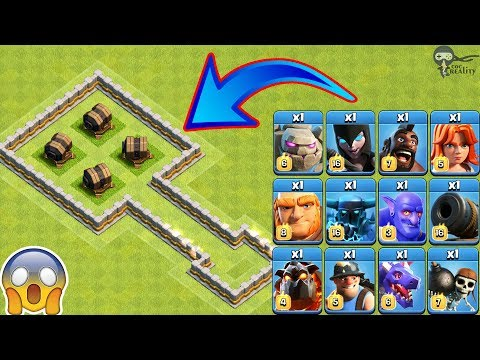 4X Giant Cannon Vs All Troops Clash Of Clans | Giant Cannon Vs Every Single Troop COC