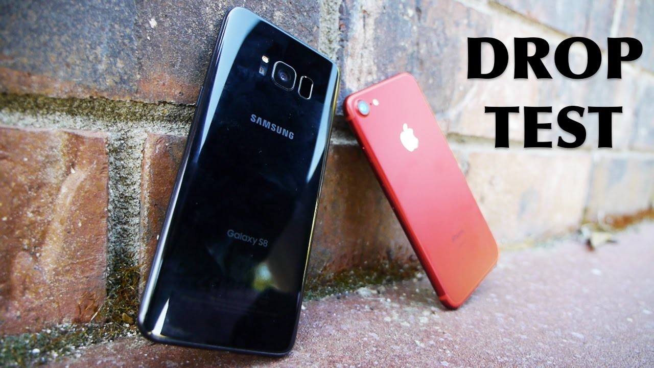 37fa0044b7b Samsung Galaxy S8 vs iPhone 7 Drop Test! - YouTube