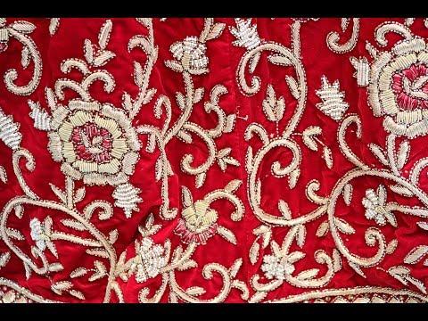 AR-205 Bridal Wear Velvet Lehenga ||Red Color||Zardozi Work||Stones Work ||Hand Work||Arang Lehenga