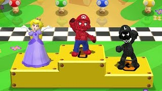 Mario Party 9 MiniGames - Spider Mario Vs Venom Luigi Vs Dark Peach Vs Dark Yoshi (Master CPU)