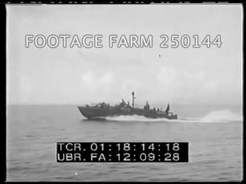 1944 PT Boat Operations & Marine Funeral Service - 250144-09 | Footage Farm Ltd