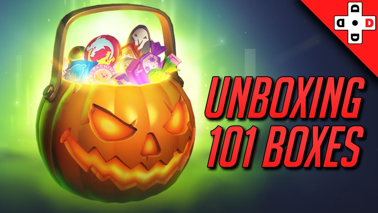 Unboxing 101 Overwatch Halloween Loot Boxes - Halloween Skins are ...