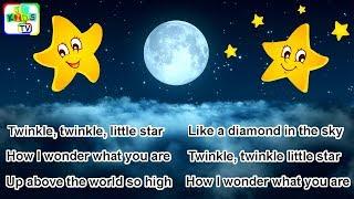 Twinkle Twinkle Little Star with Lyrics | Kids Songs, Baby Nursery Rhymes, Children Music