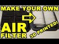 3D Printed Car Parts: Making An Air Filter - Daihatsu Cuore Avanzato TR-XX R4 Project Episode 8