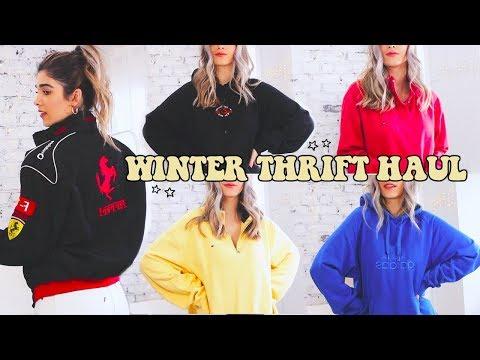 WINTER THRIFT HAUL☆ Soooo Many Sweaters & Hoodies Im Obsessed.