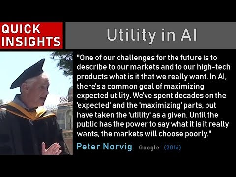 Peter Norvig: Utility in AI