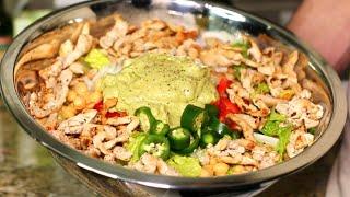 SUPERBOWL Salad w Homemade Avocado Dressing