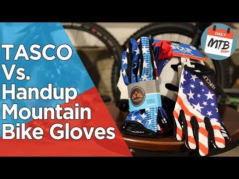 Top 2 Mountain Bike Glove Company Showdown - TASCO vs  Handup