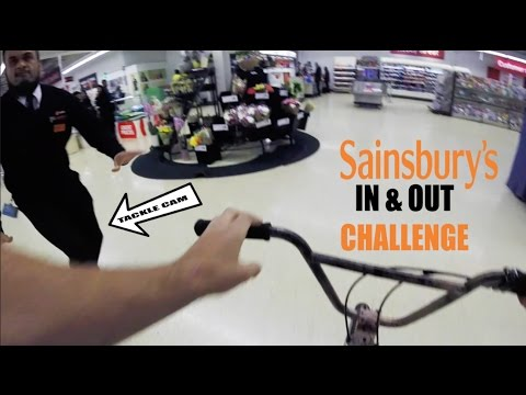 **SECURITY TACKLED ME** IN & OUT CHALLENGE IN SAINSBURYS!