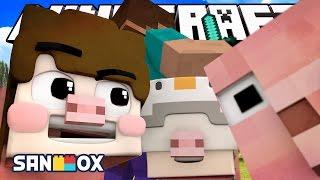 도쵸 남매, 꿀꿀 돼지로 생존하기 미션!! [블럭 숨바꼭질 With 쵸쵸우 : 마인크래프트] Minecraft - Hide and Seek  [도티]
