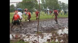 Match mud football  Poland - Germany / Karen Dobrowolska Zamosc