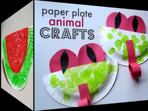 #crafts #swan #jumblzar  sc 1 st  YouTube & Summer Paper Plate Crafts For Kids| Beautiful Handmade Set Of Diy ...