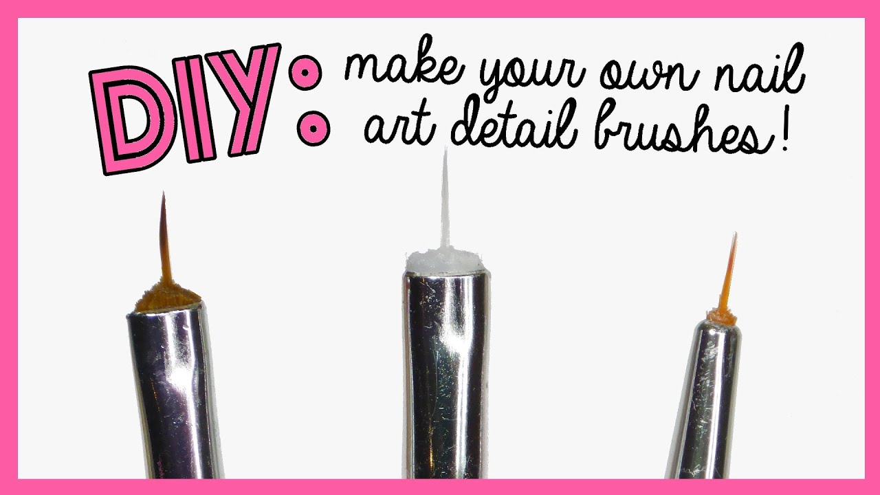 DIY: Make your own nail art detail brushes! - YouTube