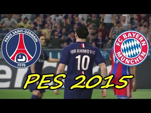 PES 2015 Gameplay- PSG vs Bayern Munchen