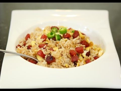 Fried Rice With Chinese Sweet Sausage /Cơm Chiên Lạp Xưởng (English)