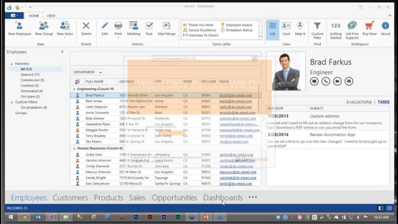 DevExpress Winforms Controls: Creating an Outlook Inspired UI