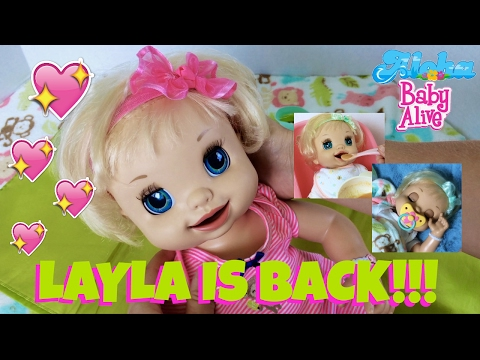 💖 Baby Alive Learns to Potty Doll - Layla's Feeding Real Baby Food and Changing! Collab with Emily!