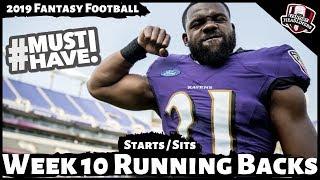 2019 Fantasy Football Advice - Week 10 Running Backs - Start or Sit? Every Match Up