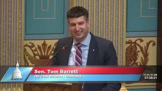 Sen. Barrett announces the birth of his fourth child Louis Charles