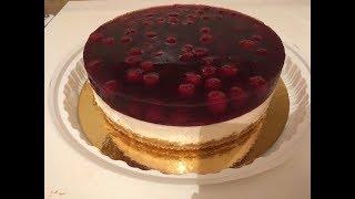 Торт без выпечки с вишней - самый простой рецепт