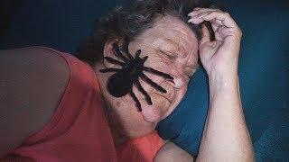 SPIDER PRANK ON SLEEPING GRANDMA!