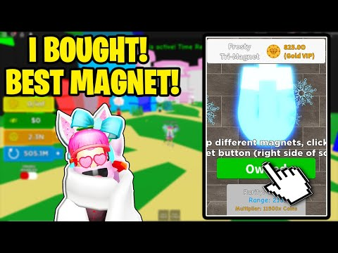 I BOUGHT THE BEST MAGNET *BETTER THAN THE ROBUX FESTIVE MAGNET!* IN MAGNET SIMULATOR!
