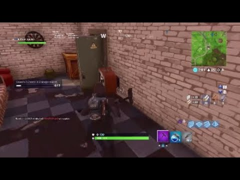 Fortnite Battle Royale | week 8 search between a crater, teddy bear and refrigerator location