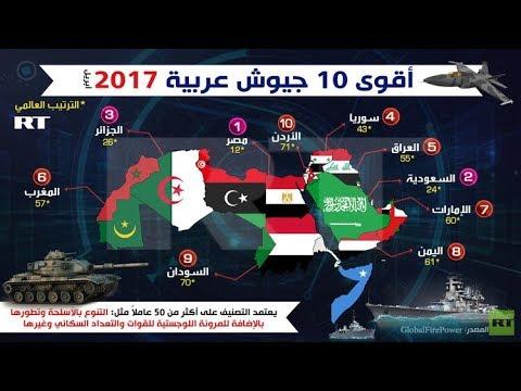 أقوى الجيوش العربية 2017 ارقام و معطيات Youtube