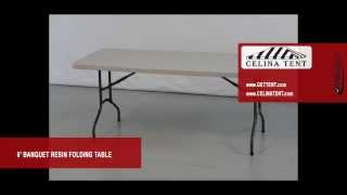 "6' X 30"" Banquet / Rectangle Resin Folding Tables"
