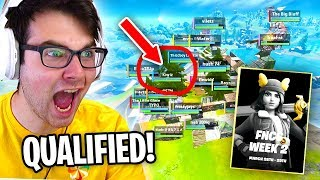 We QUALIFIED in Duos and had PRO CASTERS *REACT* to it... (Fortnite FNCS Week 2)