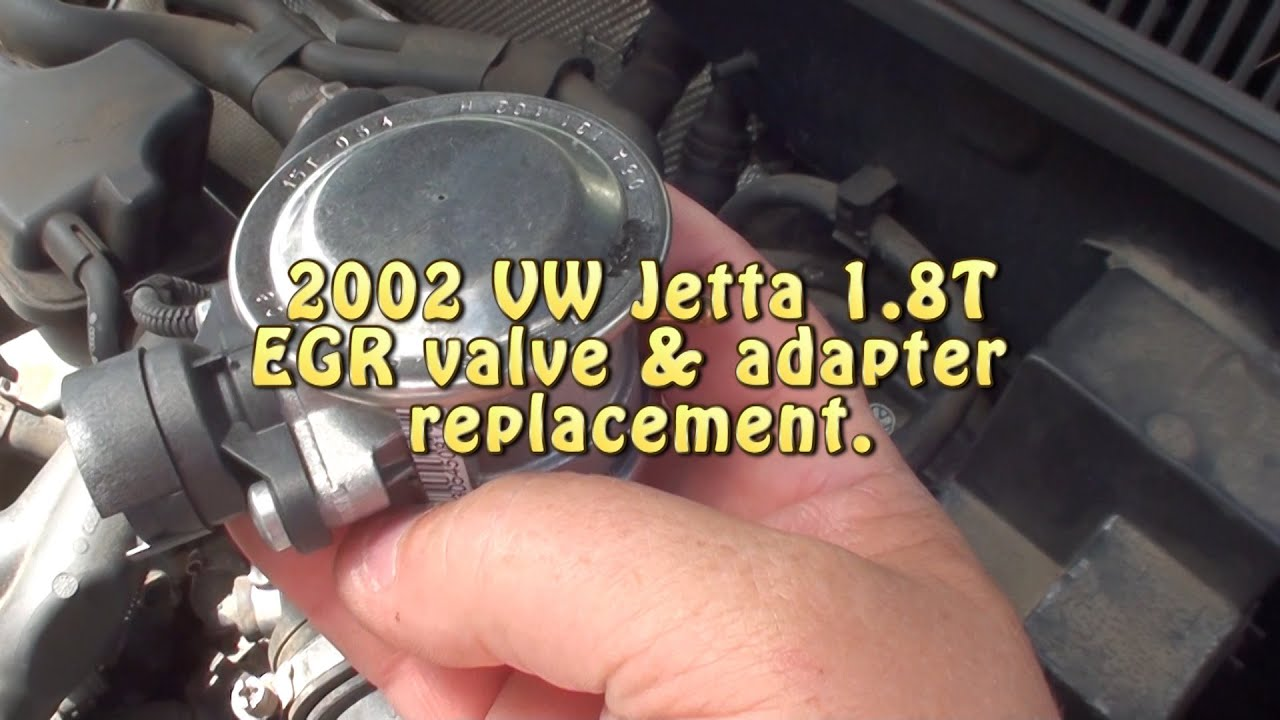 02 Jetta 1 8t Egr Valve And Adapter Replacement