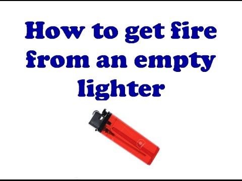 how to fix a lighter that is stuck