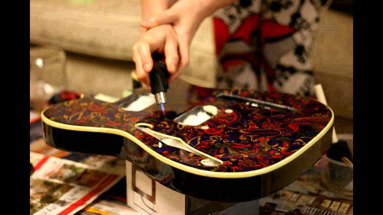 Making The Paisley Guitar Epoxy Time Lapse Youtube