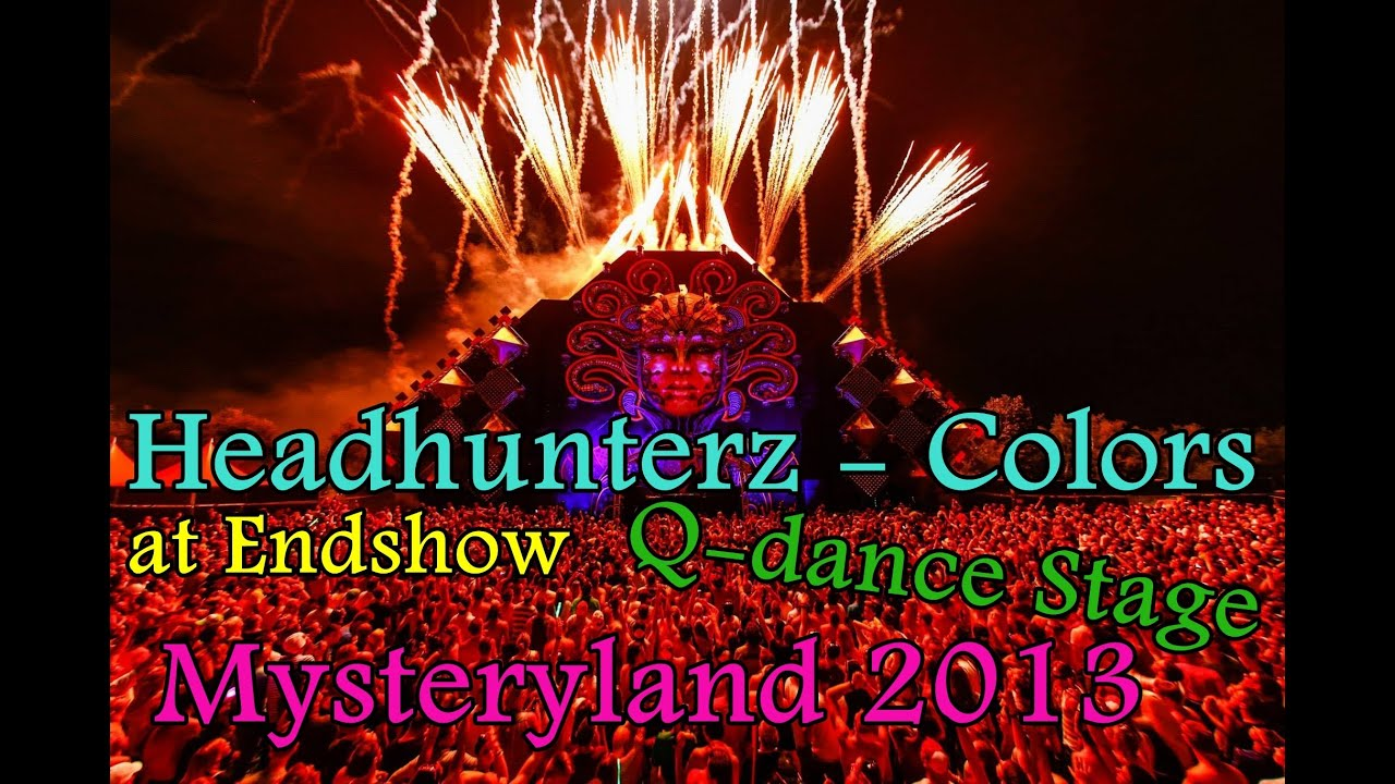 Headhunterz ft Tatu - Colors (Q-dance Stage at Mysteryland 2013 -  Fireworks) [HD]