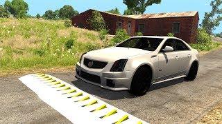 Spike Strip High Speed Testing #20 - BeamNG DRIVE