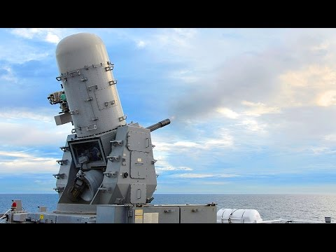 Phalanx CIWS Close-in Weapon System In Action - US Navy's De