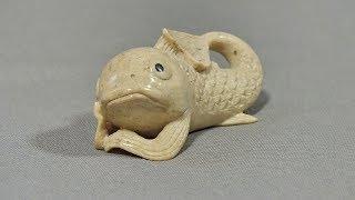Задумчивая рыба. Резьба по кости. Мастер-класс