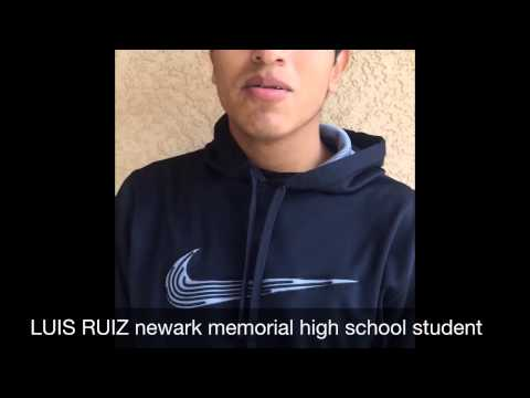 LUIS RUIZ newark memorial high school student