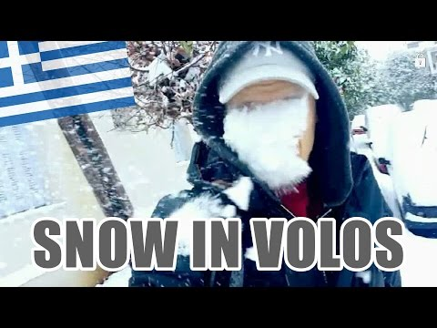 WINTER BLIZZARD VOLOS 2017 - Vlog 01