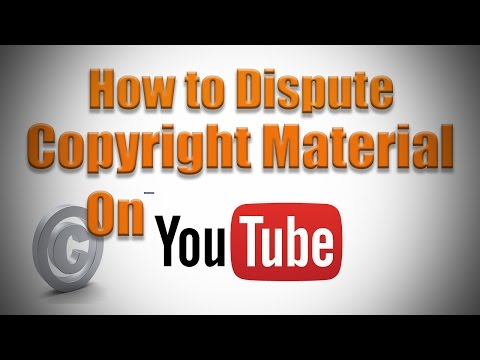 How to Dispute Copyright Music on YouTube 2016