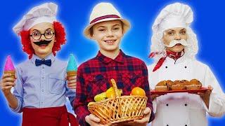 The Muffin Man | Kids Songs | Polina Fun