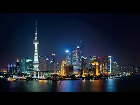 Shanghai skyline at night 2015