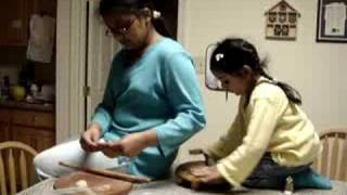 prarthana and preeti making rotis